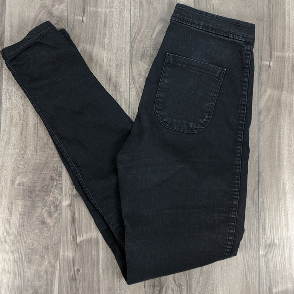 American Apparel High Rise Washed Black Jeans Med